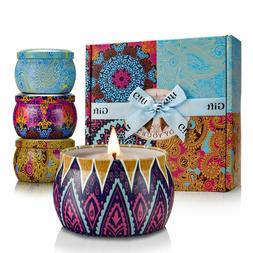 Scented Candles Gift Sets 4 Pcs Natural Soy Wax 4.4 Oz Unit