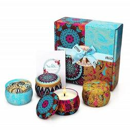 Scented Candles Yinuo Mirror Gift Set Natural Soy Wax Portab