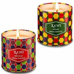 Iwax Scented Candles Natural Soy Wax Portable Travel Tin Can