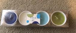 Scented Candles- Pack Of 4 Assortment Of Colors- NEW with Bo