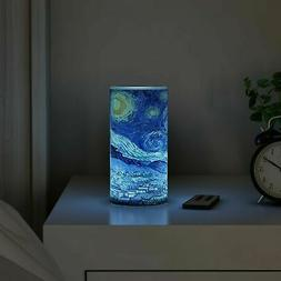 Scented Starry Night LED Candle Remote Timer Flickering Flam