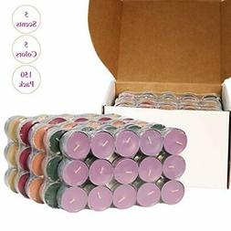 CandleNScent Scented Tea Lights Candles   Variety Pack   Mad