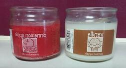Set Of 2 Candle-lite Scented Candles White Vanilla & Red Cin