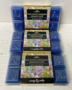 Art Candle Simmering Waffle Bar Wild Flowers 1.6 Ounce Time