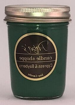 Soy Candles, Cypress and Bayberry Highly Scented Soy Candles