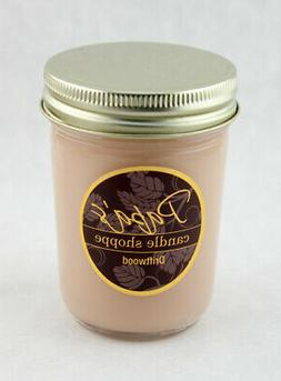 Soy Candles, Driftwood, Highly Scented Soy Candles 8 oz Jell