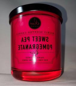 sweet pea pomegranate scented soy wax blend