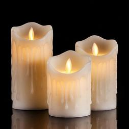 Tears Shape Flameless LED Candles Pillar Scented Electric Wa