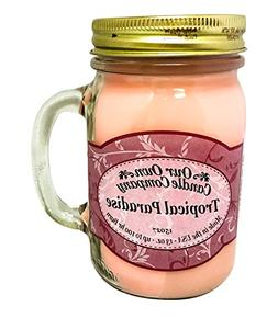 Tropical Paradise Scented Candle in 13 oz Mason Jar by Our O