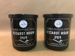 Two  DW Home Richly Scented WARM TOBACCO PIPE Candles Small
