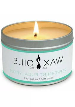 Wax and Oils Soy Wax Aromatherapy Scented Candles - Peppermi